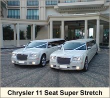 two chryslers at wedding