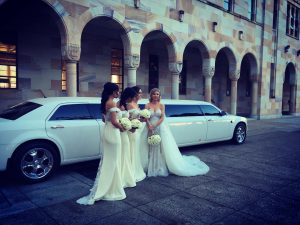 wedding with chrysler in background 2